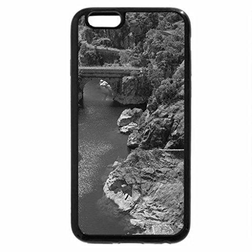 iPhone 6S Plus Case, iPhone 6 Plus Case (Black & White) - Rivers