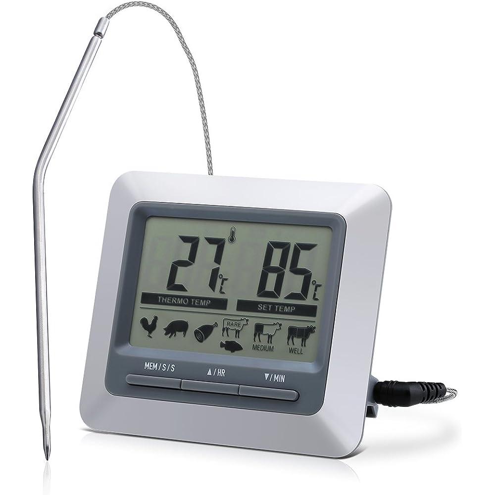 Mit Hilfe eines Grillthermometers brauchen Sie sich über den richtigen Garzeitpunkt keine Gedanken mehr zu machen.