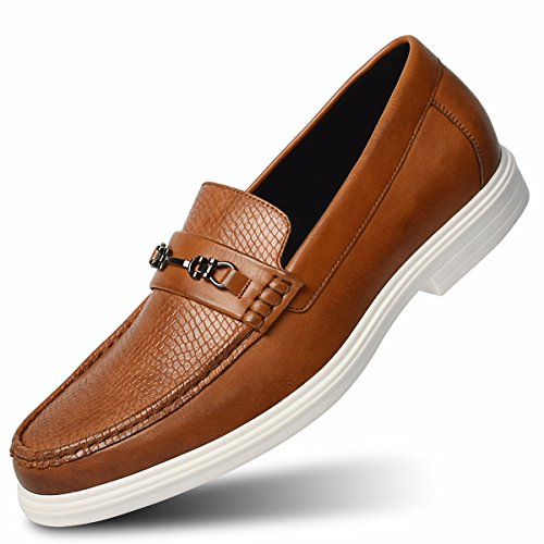 on Driving Slip Brown Loafer Shoes Style Italian Men's Modern ECOSI xPUwa5Iq4W
