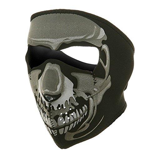 ZAN Headgear Full Face CHROME SKULL Neoprene Protective Facemask