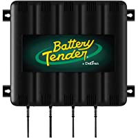 Battery Tender 4-Bank: 12V, 1.25 Amp Battery Charger - 12V Battery Charging Bank with 4 Ports - Simultaneously Charges…