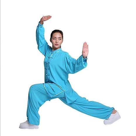 KXLK Mujeres Tai Chi Ropa Camisa Zen Meditación Traje Manga ...