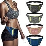 SIUONI Extra Wide Running Belt, Adjustable Travel Money Belt Fit All Smartphones and Passport, Stylish Fitness Workout Belt Waist Pack for Men Women Runners