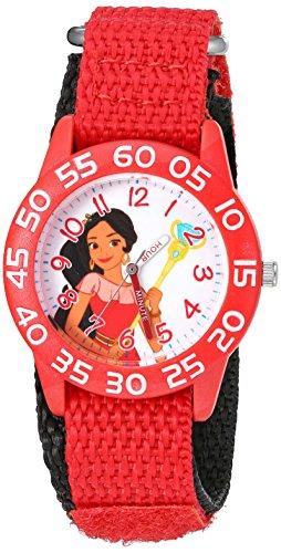 Disney Girl's 'Elena of Avalor' Quartz Plastic and Nylon Watch, Color:Red (Model: W003027)
