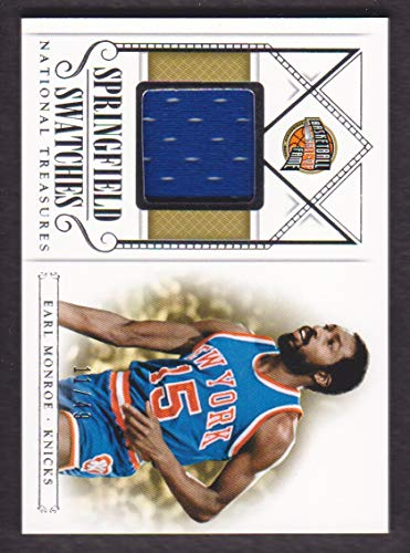 2013-14 Panini National Treasures Basketball Springfield Swatches Jersey #24 Earl Monroe 11/49 New York Knicks