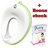 Image of Potty Seat for Boys and Girls   Toddler Toilet Training Ring with Splash Guard & Secure Non Slip Surface   Portable Travel Elongated Potty for kids  Hanging Ring for Easy Storage and Bonus Ebook