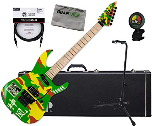 ESP Ltd. KAMI-4 Graphic George Lynch Signature Guitar w/Case, Tuner, Stand, Cloth, Cable