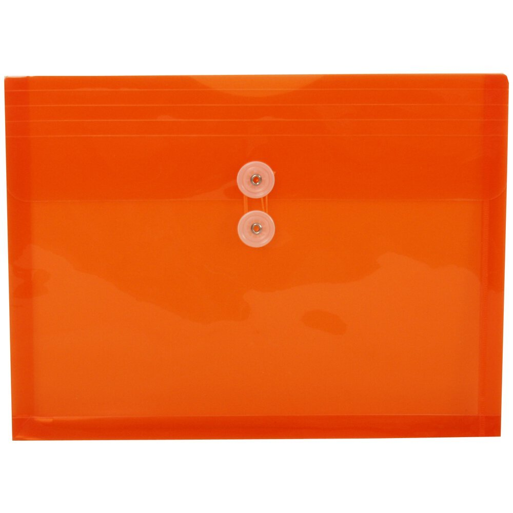 JAM Paper Plastic Envelope with Button and String Tie Closure - Letter Booklet - 9 3/4'' x 13'' - Assorted - 6/pack by JAM Paper (Image #7)