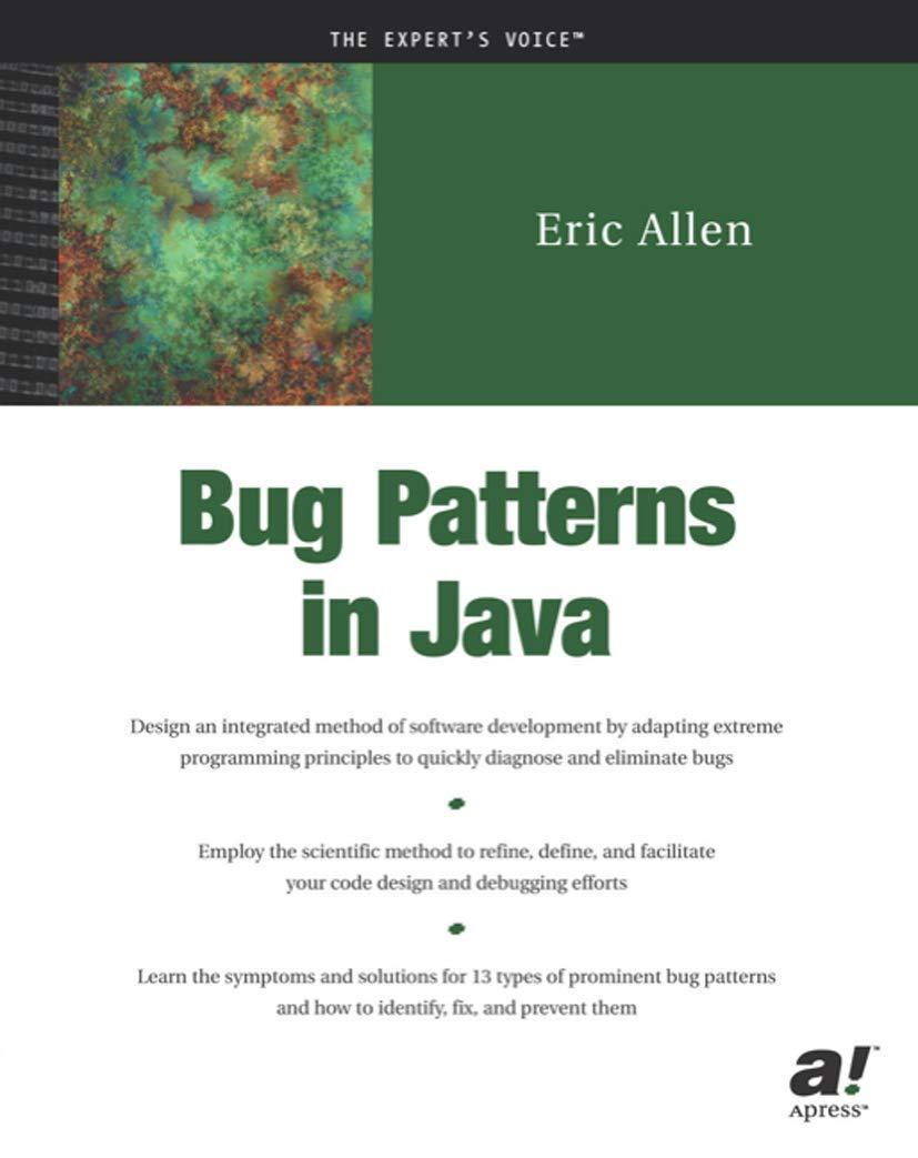 Bug Patterns In Java Allen Eric 9781590590614 Amazon Com Books