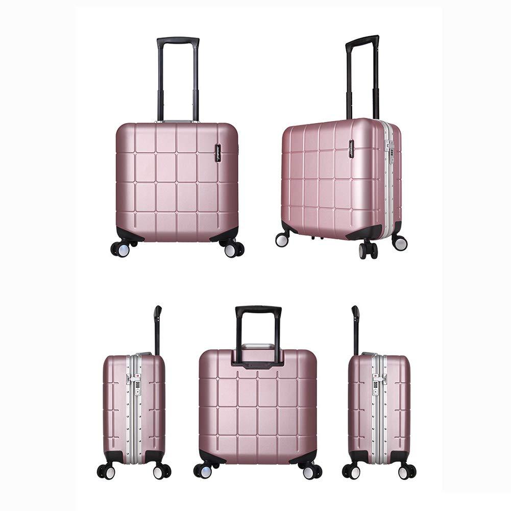 小型トロリーケース、スタイリッシュなパーソナリティ360°ミュートキャスタービジネススーツケース。 サイズ(42 * 23.5 * 41CM) B07SFSZ9JZ Pink