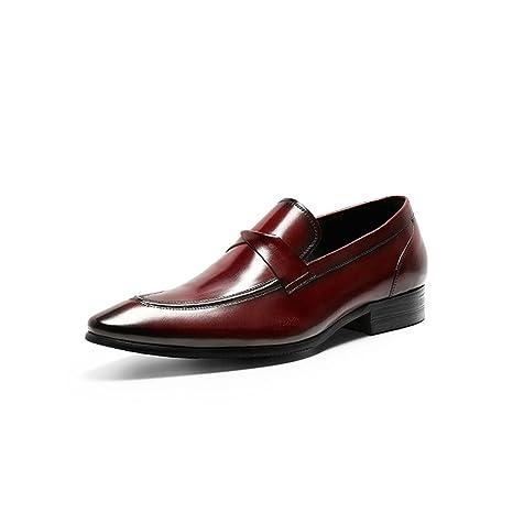 Zapatos de Hombre Cuero Genuino/Mocasines Primavera/Otoño / Invierno Zapatos Perezosos Comfort/Mens Mocasines y Slip-Ons Zapatos para Caminar ...