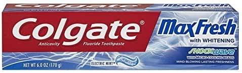 Toothpaste: Colgate Max Fresh Shockwave