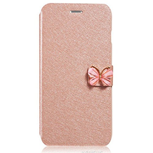 Price comparison product image For iPhone 7 Plus 5.5inch, Mchoice Luxury Flip Leather Slim Wallet Card Magnetic Case Cover for iPhone 7 Plus 5.5inch (Gold)