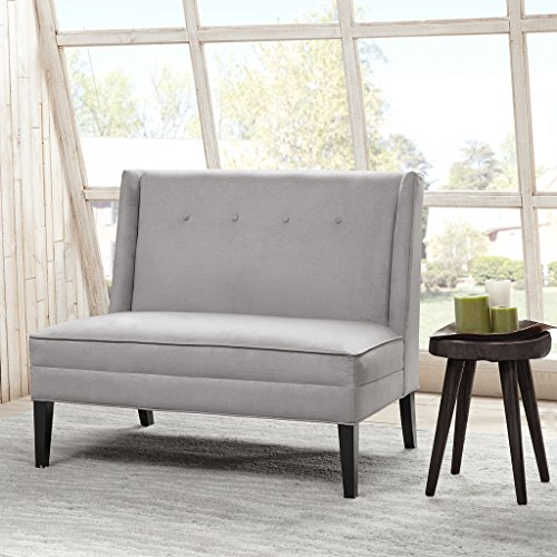 French Tufted Upholstered Dining Bench Banquette: Upholstered Dining Bench With Back: Amazon.com