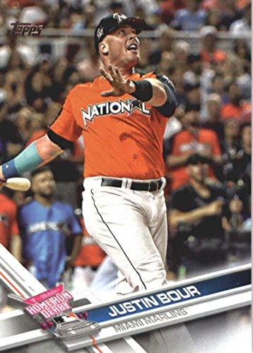 2017 Update Series #US134 Justin Bour Miami Marlins Baseball Home Run Derby Card