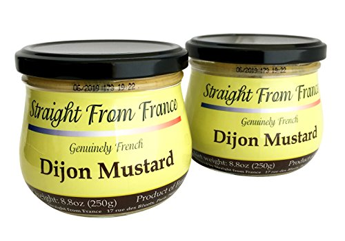 - Straight from France Gourmet French Dijon Mustards 2 jars 2x8.8oz