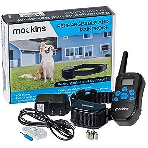 Mockins 100% Rainproof Rechargeable Electronic Remote Dog Training Collar Dog Collar Beep Vibration - E-Collar 990 ft Range Distance Shock Collar Dogs ... ... ... 43