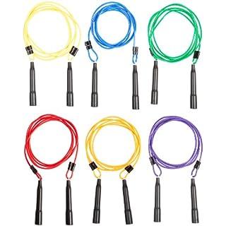 Sportime Adjustable Length Jump Ropes, 9 Feet, Set of 6 - 005233