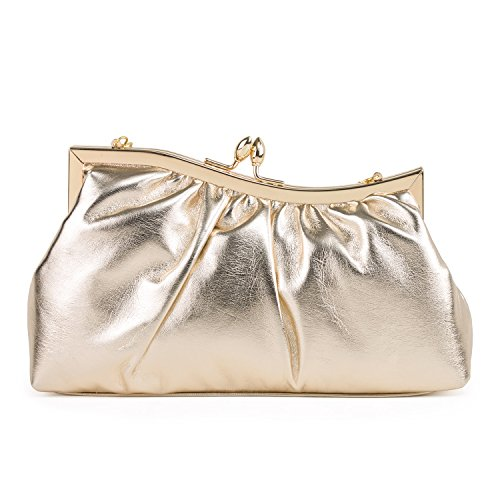 Farfalla Womens Gold Clutch Farfalla Gold 90406 Womens 6RT6rq