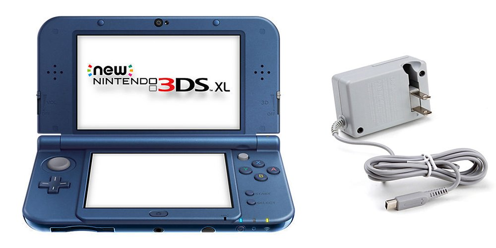 Nintendo New 3DS XL Bundle (2 Items): Nintendo New 3DS XL - Galaxy Style, and Tomee AC Adapter by Nintendo