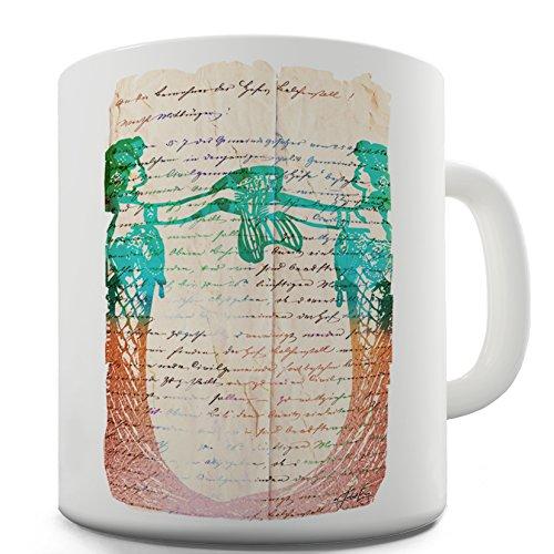 Twisted Envy Book Print Art Nouveau Ceramic Novelty Gift Mug