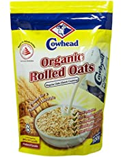 Cowhead Organic Rolled Oats Regular, 500g
