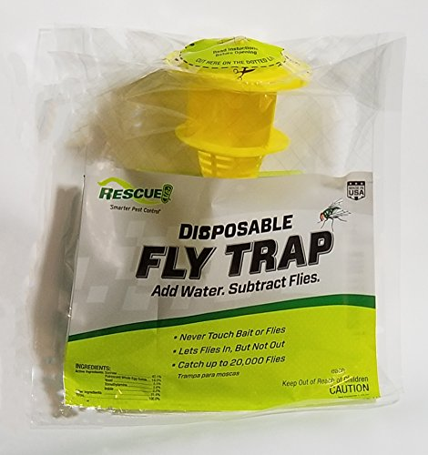 Sterling Rescue Outdoor Disposable Fly Catcher, Control Trap with Attractant, Insecticide Free (6 Pack) by Sterling Rescue