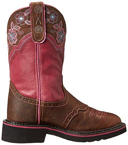 Justin Boots L9955 Brown Pink Westernreitstiefel für Damen Braun Rosa Brown Pink