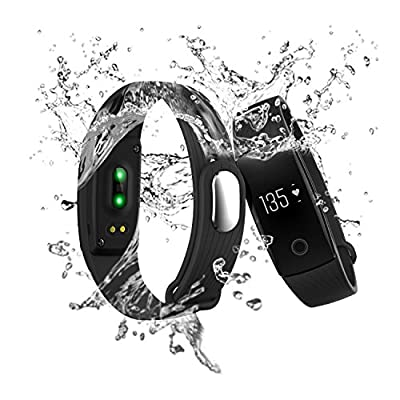 Fitness Tracker, RIVERSONG Wave HR Heart Rate Monitor Activity Tracker Smartband Pedometer Sleep Monitor Calories Track for Sports Fitness Gift