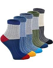 Jongens Sokken Kinderen Katoenen Sneaker Sokken, kleurrijke Kindersokken voor Jongen, 2-11 jaar, 5 paar
