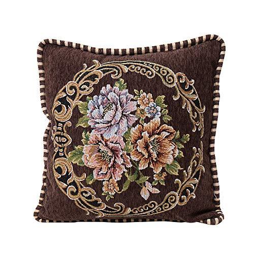Alimao Chenille Square Pillow Cover Cushion Case Toss Pillowcase Hidden Zipper Closur (Pillow Toss Lace)