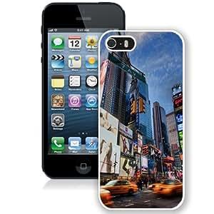 NEW Unique Custom Designed iPhone 5S Phone Case With Times Square Lockscreen_White Phone Case wangjiang maoyi
