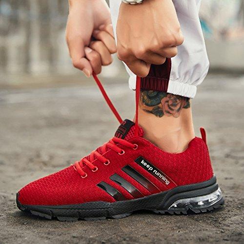 Air Fitness Scarpe da Running Ginnastica Uomo Cushion Sportive Sneakers Estive Pink Classic Rosso Basket 1Bw0aa