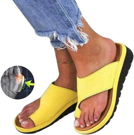 Sandalo con correttore ortopedico per alluce valgo, con suola piatta, in  poliuretano, giallo: Amazon.it: Salute e cura della persona