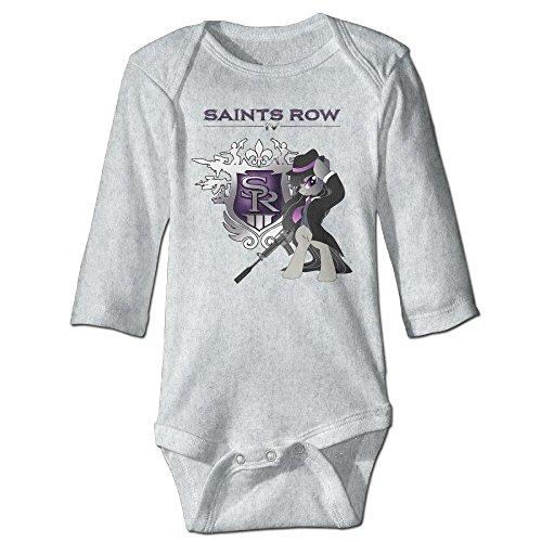 HYRONE Saints SR Game Logo Row Baby Bodysuit Long Sleeve JumpSuit Romper Size 24 Months Ash