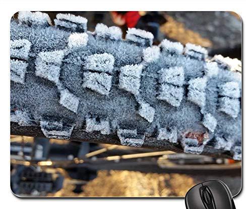 Mouse Pad - Bike Tire Frost Winter Biking Mountain Biking