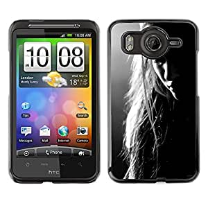 For HTC Desire HD / G10 / inspire 4GCase , Woman Sad Melancholia Depression - Diseño Patrón Teléfono Caso Cubierta Case Bumper Duro Protección Case Cover Funda