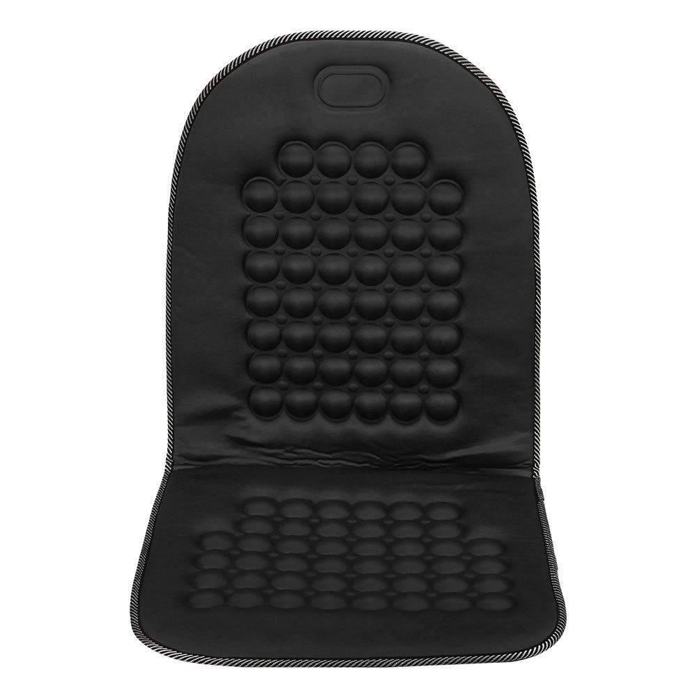 US Fast Shipment Tuscom Car Van Seat Cover,Back Cushion,Help for Shoulders, Back, Buttocks,Magnetic Therapy Massager Cushion (Black)