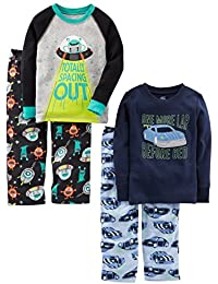 Little Kid and Toddler Boys' 4-Piece Pajama Set