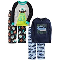Simple Joys by Carter's Little Kid and Toddler Boys' 4-Piece Pajama Set