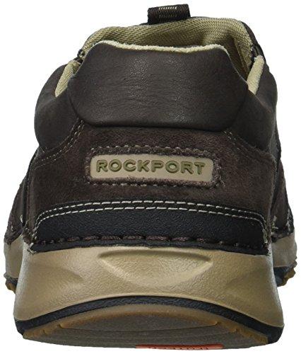 ... Rockport Menns Rocsports Lite Fem Slip På Sneaker Mørk Bitter Sjokolade  ...