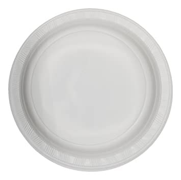 u0027Best Choiceu0027 9-inch disposable plastic plates white 100 count Microwave Safe  sc 1 st  Amazon.com & Amazon.com: u0027Best Choiceu0027 9-inch disposable plastic plates white 100 ...