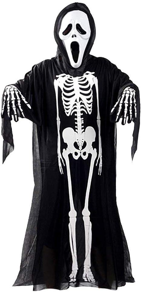 Cráneo Esqueleto Fantasma Disfraz de Cosplay Adultos Niños ...