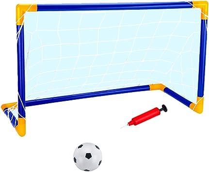 Kit Juguete de Puerta de Fútbol Portátil con Balón de fútbol ...