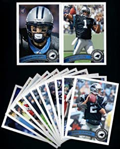 2011 Topps Carolina Panthers Complete Team Set of 13 cards including Deangelo Williams, Shockey, Steve Smith, Cam Newton RC, Pilares RC, and more!