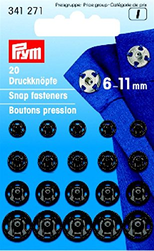 Sew-On Snap Fastener 6-11mm Black (Snap 7mm)