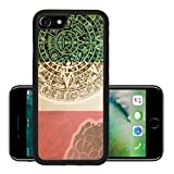 Liili Premium Apple iPhone 7 iPhone7 Aluminum Backplate Bumper Snap Case IMAGE ID: 21462473 Background in American Indian Style with Mayan calendar Mexican flag and map on old paper