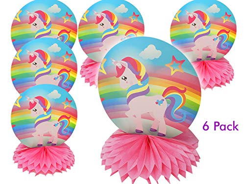 UNICORN & Rainbow Beautiful table centerpiece for birthday party decoration (6 pack)