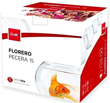 FLORERO ACUARIO AMPOLLA DE CRISTAL PECES LOLA CEGECO 20 CM: Amazon.es: Hogar