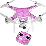 MightySkins Protective Vinyl Skin Decal for DJI Phantom 3 Standard Quadcopter Drone wrap cover sticker skins Pink Thai Marble by MightySkins